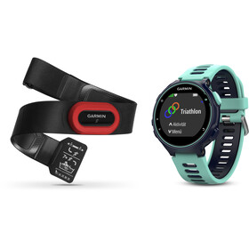 Garmin Forerunner 735XT Running Watch incl. Premium HRM chest belt Run, frost/blue